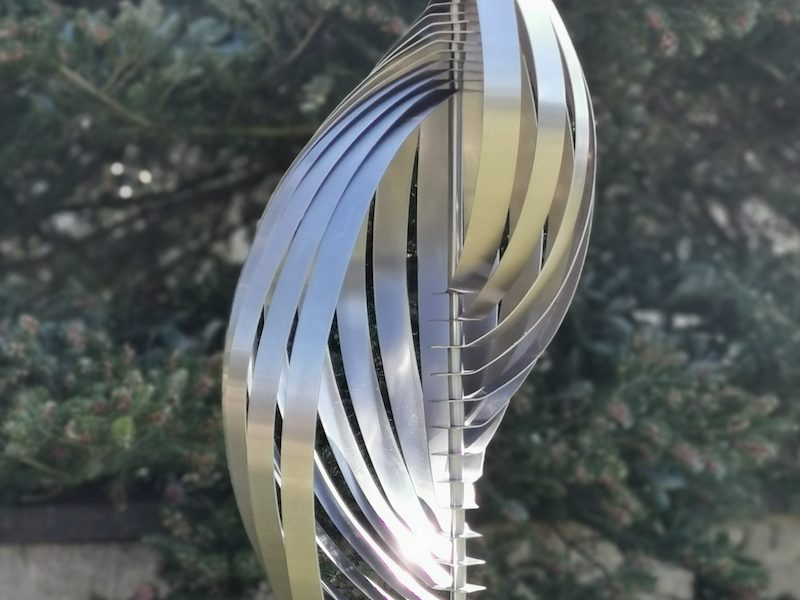 Galerie Oudenhove - Bert Verboon - Spiral - RVS, hardsteen